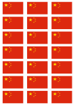 China Flag Stickers - 21 per sheet